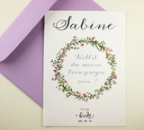 Purple Bridal Shower invites, Bridesmaid proposal ideas, Bridesmaids ask