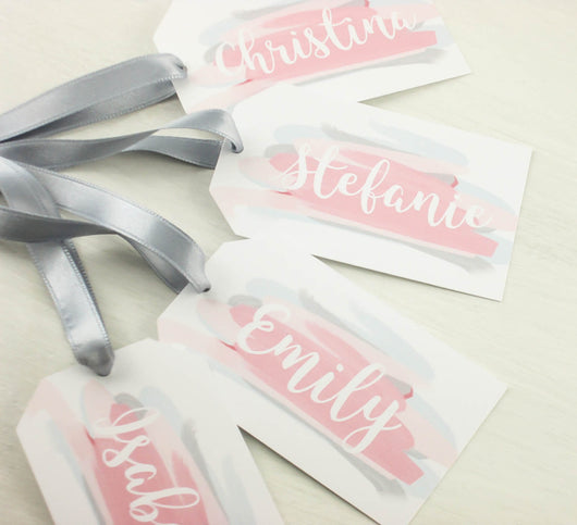 SET of Will you be my Bridesmaid Gift Tags Customizable Gift Tags Flower Girl Tags