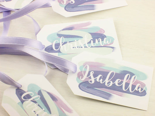 SET of Be my Bridesmaid Tags Customizable Gift Tags Flower Girl Tags