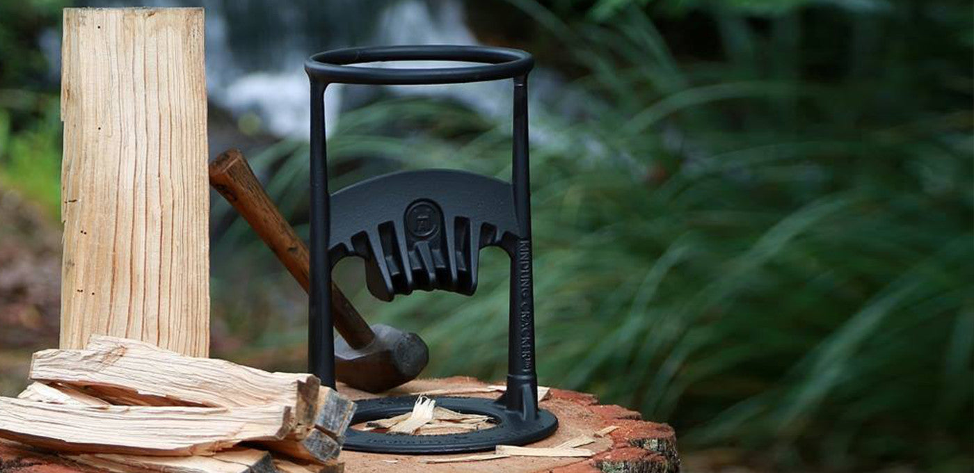 It consists of one solid piece of high-quality cast iron, so it's something that your grandkids' grandkids will use to split their own kindling.