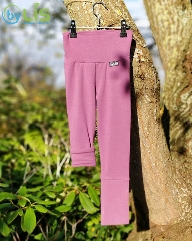 Grow With Me Leggings - Syrenfarvet - Økologisk Bomuld - byLIS
