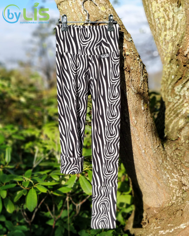 Grow With Me Leggings med zebraprint - Økologisk Bomuld - byLIS