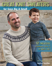 Great knit sweaters for guys big and small by Andrea Sanchez