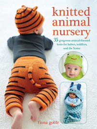 Knitted animal nursery by Fiona Gobel