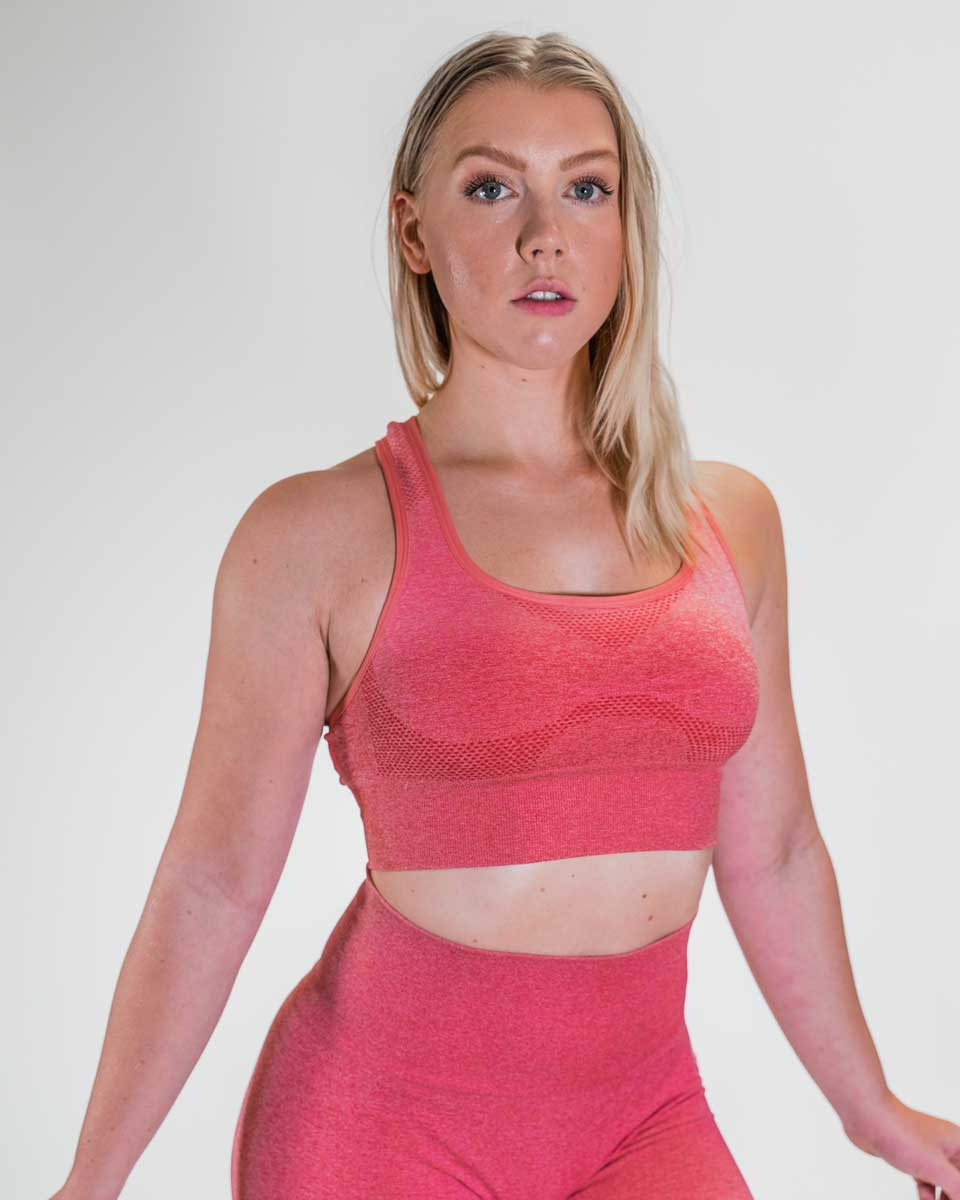 NYFLEX SEAMLESS SPORTS BRA | ROSE