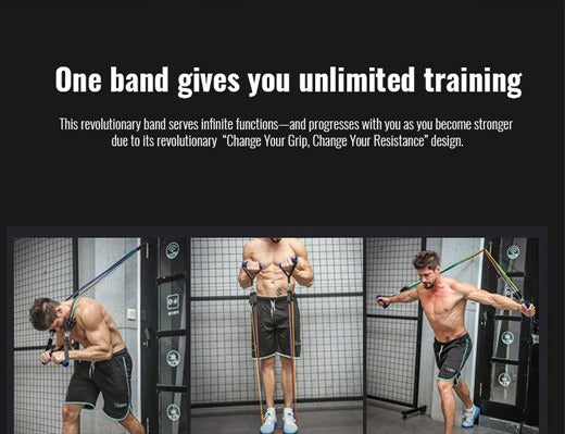 ULTIMATE 11 PIECE WORKOUT RESISTANCE BAND SET