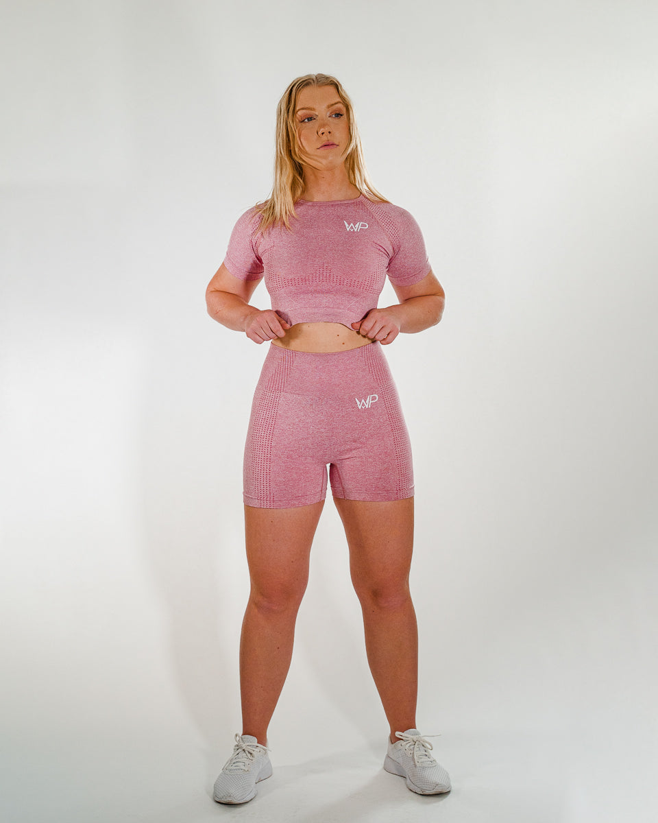 Power Seamless Shorts | Pink