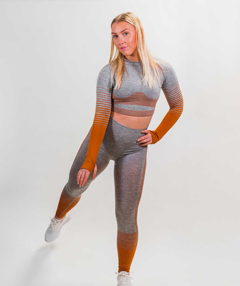 Hybrid Seamless Set | Tiger Orange