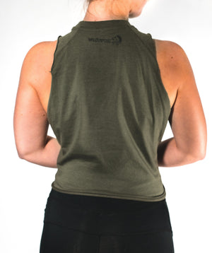 Tops - Sleeveless Top | Khaki