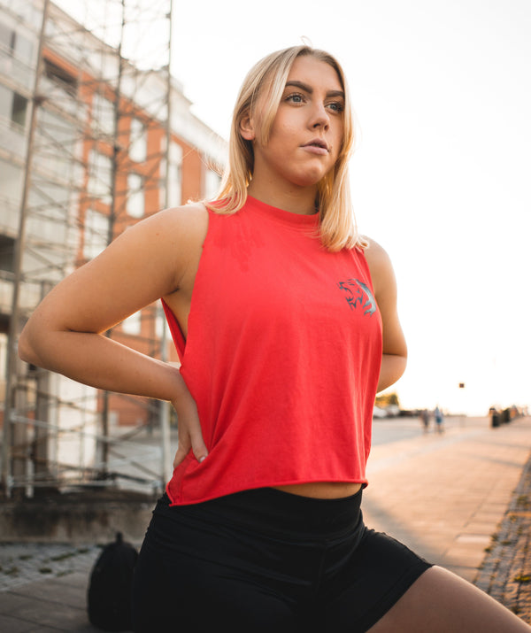Tops - Sleeveless Top | Red