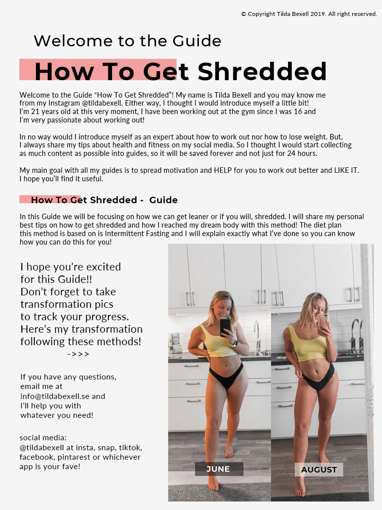 How to get shredded | Guide