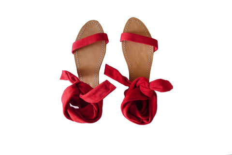 Palma Sandals - Red Suède