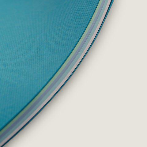notebook (side stitched) - turquoise - ebony - gradient