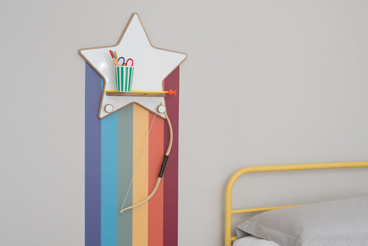 Star Shelf (with hooks)