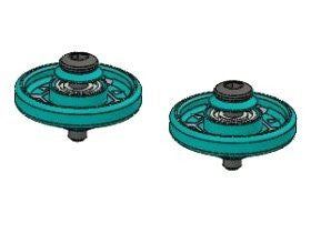 3 Racing #3 R/M4 Wd 30/Lb 13mm Aluminum Ball  Race Rollers ( Ringless )(Light Blue) For Tamiya Mini