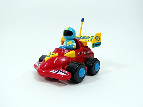 "4"" Cartoon R/C Formula Race Car For Toddlers"
