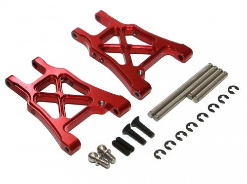Boom Racing #Br113002 R Aluminum Rear Arm With Screws   1 Pair Red For Hpi Sprint 2