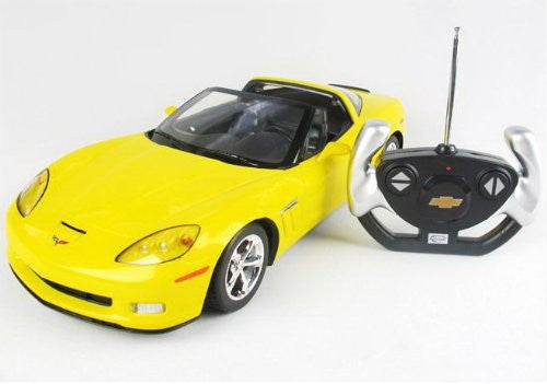 "Ampersand Shops Remote Control Licensed 12"" 1:12 Corvette (Yellow)"