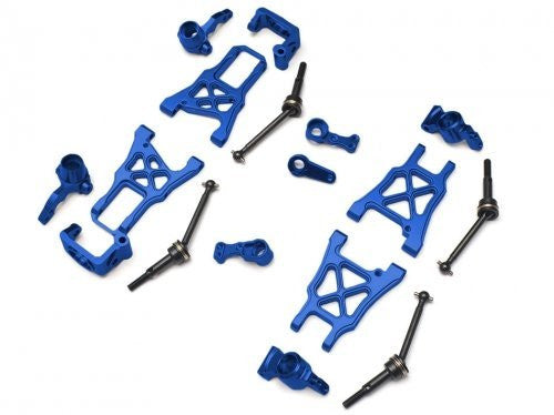 Boom Racing #Br113 Combo1 B Aluminum Performance Combo Package With Tool Box   8 Items Blue For Hpi