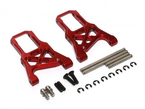 Boom Racing #Br113001 R Aluminum Front Arm With Screws   1 Pair Red For Hpi Sprint 2
