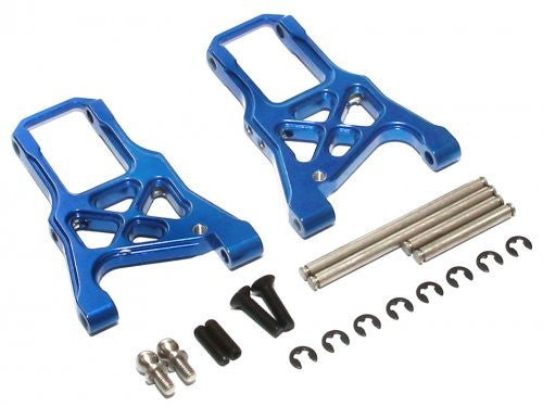 Boom Racing #Br113001 B Aluminum Front Arm With Screws   1 Pair Blue For Hpi Sprint 2