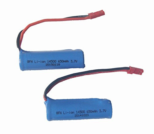 Arfantitoys 2pack Of 3.7v 650mah Li Ion Battery For Udirc Udi003 2.4ghz High Speed Remote Control El