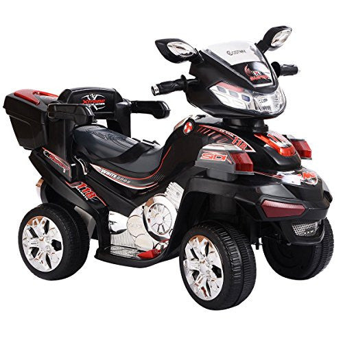 4 Wheel Kids Ride On Motorcycle 6 V Battery Powered R/C Electric Toy Power Bicyle   Remote Control A
