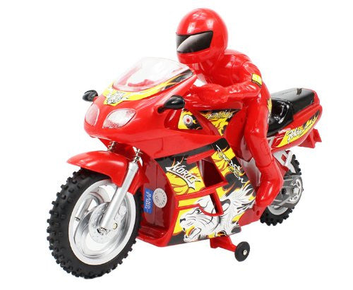 1:7 Scale Dazzling Full Function Electric Rtr Rc Motorcycle (Red) Remote Control R/C