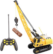 Top Race 12 Channel Remote Control Crane, Battery Powered Radio Control Construction Crane With Ligh