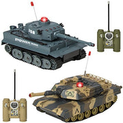 Best Choice Products Rc Battling Tanks Set Of 2 Full Size Infrared Radio Remote Control Battle Tanks
