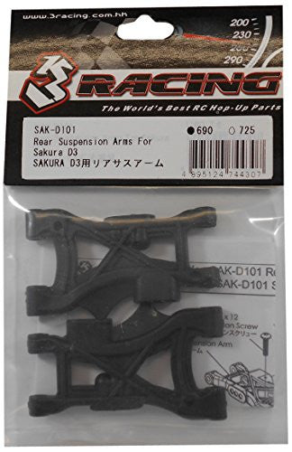 3 Racing #3 R/Sak D101 Rear Suspension Arms For 3 Racing Sakura D3 Cs Sport
