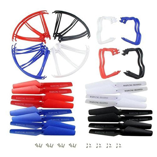 Ab Csell Syma X5 X5 C X5 C 1 4 Colors Landing Skid+Blade Propeller+Propeller Protectors Set