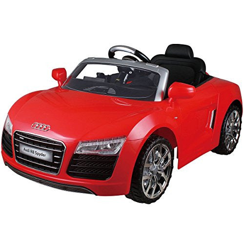 Audi R8 Spyder 12 V Electric Kids Ride On Car Licensed Mp3 Rc Remote Control 2 Color   With Parental