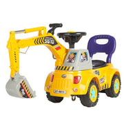 New Ride On Excavator Digger Scooter Pulling Cart Pretend Play Construction Truck