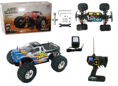 1:10 Rc Electric 4 Wd Mad Truck Red