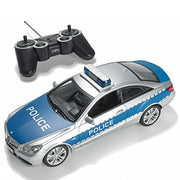 Prextex Rc Police Car With Lights And Realistic Police Siren Sounds Remote Control Police Car Toys F