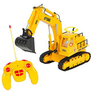 Best Choice Product Remote Control Rc Excavator Tractor Construction Truck 7 Channel Lights & Sound
