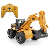 Huina 2.4 Ghz Radio Control Alloy 6 Channel 4 Wheel Excavator Remote Control High Simulation Truck