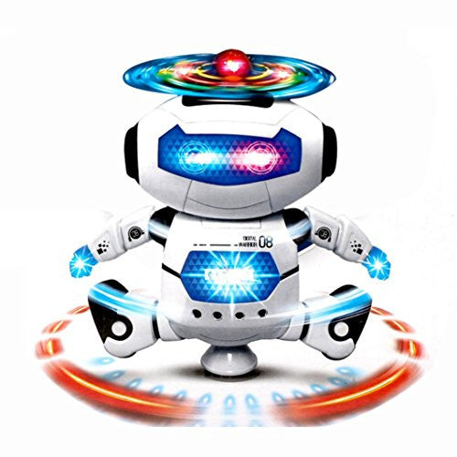 Binmer(Tm)Kids Children Electronic Walking Dancing Smart Space Robot Astronaut Kids Music Light Toys