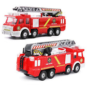 Newnet Electric Fire Truck Toy With Lights And Sirens, Extending Ladder And Water Pump Hose To Shoot
