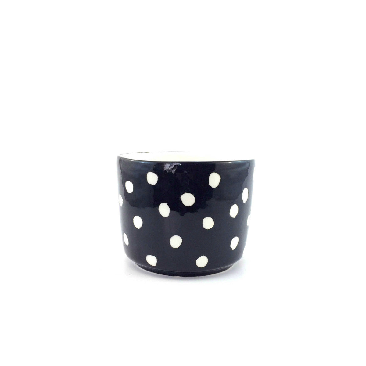 Polka Dot Pot - Black & White