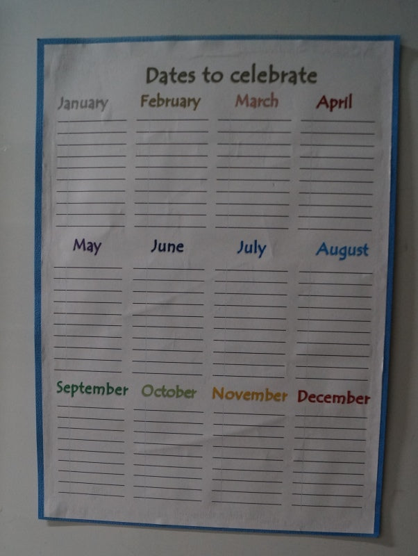 DIY A4 Dates to Celebrate Fridge Perpetual Calendar