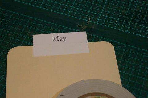Special Occasion DIY Calendar attach all labels