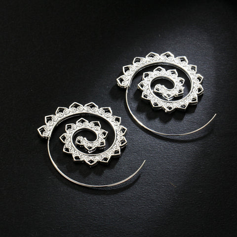 Twisted Wire Exotic Swirl Hoop Earrings 4