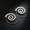 Image of Twisted Wire Exotic Swirl Hoop Earrings 4