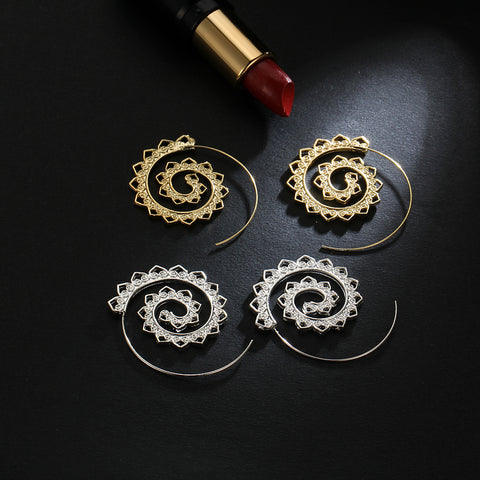 Twisted Wire Exotic Swirl Hoop Earrings 6