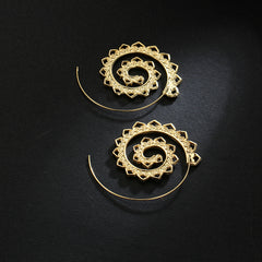 Exotic Swirl Hoop Earrings
