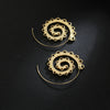 Image of Twisted Wire Exotic Swirl Hoop Earrings 2