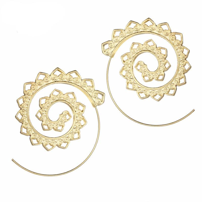 Exotic Swirl Hoop Earrings – Twisted Wire