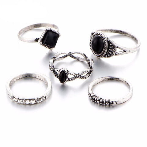 Twisted Wire Vintage Persian Ring Set 4